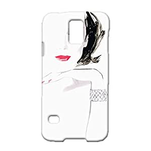 Samsung Galaxy S5 I9600 Phone Case Ultimate Protection HD Background Skin Cover Case Graceful Character Sketch 3D Designback CaseSnap on Samsung Galaxy S5 I9600 Mobile Shell
