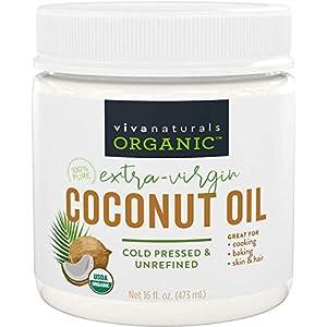 Gut Health Shop 41F7TqeUymL._SS300_ Viva Naturals Organic Extra Virgin Coconut Oil, 16 Ounce