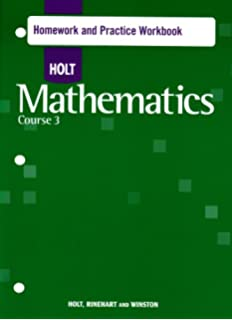 Printables Holt Mathematics Worksheets amazon com holt mathematics int problem solving course 3 homework practice workbook 3