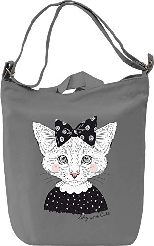 Cute cat Borsa Giornaliera Canvas Canvas Day Bag| 100% Premium Cotton Canvas| DTG Printing|