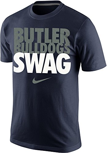 Mens Navy Blue Bull (Nike Butler Bulldogs Swag Men's T-Shirt (Large, Navy)