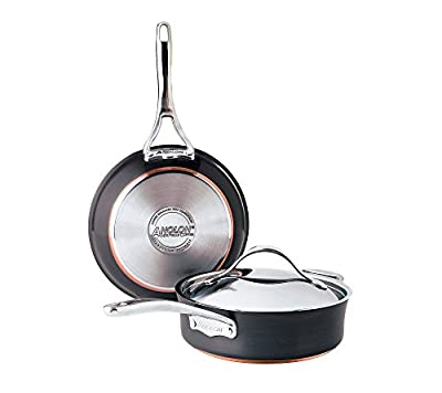 Anolon Nouvelle Copper Hard-Anodized Nonstick 3-pc. Cookware Set + GET THIS FREE see offer details