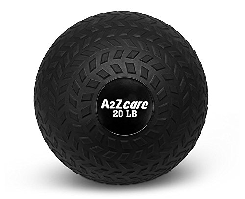A2ZCare Slam Ball 20 lbs, 15 lbs, 10 lbs - Medicine Ball or Weight Ball - Black