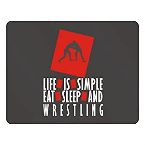 Teeburon Life is simple Eat, sleep and Wrestling Plastic Acrylic