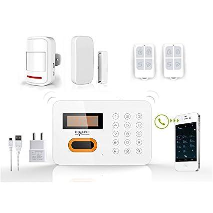 HD-LINE AL-10 Compatible teléfono ADSL y Kit de alarma inalámbrico puerta/