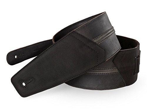 Straight Up Full Grain Padded Leather Guitar Strap - For Electric, Acoustic, and Bass Guitars by Anthology Gear (3