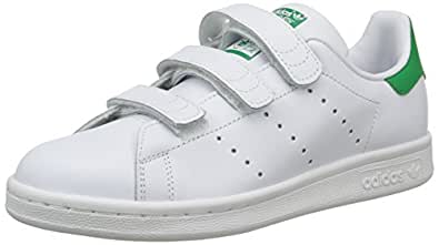 adidas Boys' Stan Smith CF Shoes, Footwear White/Footwear White/Footwear White, 3.5 US (3.5 AU)