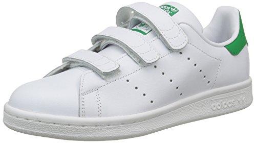 adidas Stan Smith, Baskets Basses Garçon Blanc (Running White/Running White/Fairway)