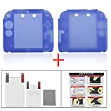 2ds Nintendo Charger Best Deals - YUYIKES Protective Soft Silicone Skin Case Cover Shell for Nintendo 2DS + Clear LCD Screen Protector (Blue)