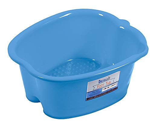 (DRESHah Foot Bath Tub - Large Sturdy Plastic Pedicure Spa and Massager - Perfect Foot Tub for Soaking Feet, Toe Nails, and Ankles)