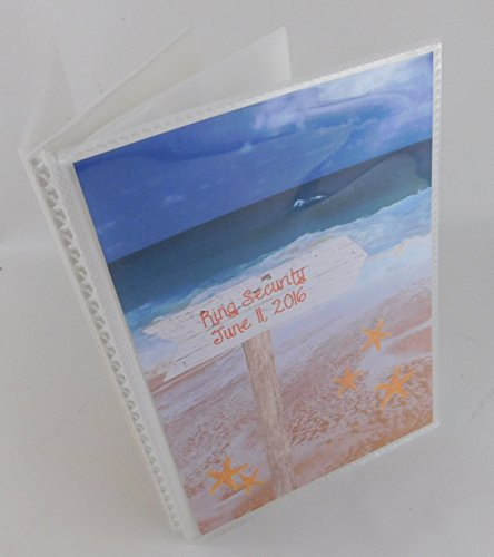 (Beach Photo Wedding Photo Album IA#636 Personalized Destination Wedding Gift Names and Date or Your Message 5x7 or 4x6 Pictures)