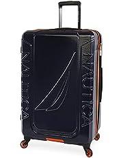 NAUTICA Birch Hardside Spinner Luggage, Navy/Orange