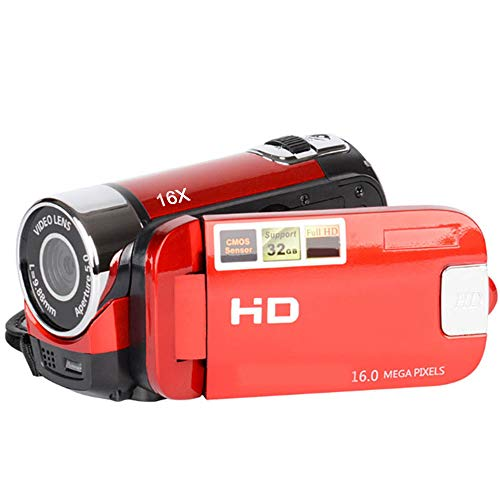 TOPmountain 1080P Dv Camera Digital Camera Digital Zoom USB Camera Dvr Night Vision for Outdoor(Red)
