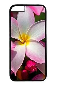 Hawaiian Plumeria Cover Case Skin for iPhone 6 Hard PC Black hjbrhga1544