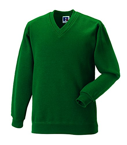 Russell Workwear - Sweat-shirt -  - Uni - Col V - Manches longues Homme Bleu French Navy Xx-large -  Vert - Vert bouteille - Xx-large