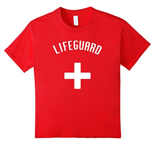 Kids Lifeguard Halloween Costume (kids) 6 Red