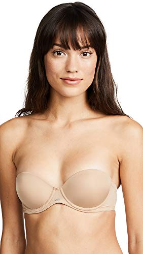 Calvin Klein Women's Naked Glamour Strapless Push-up Bra, Buff, 34DD