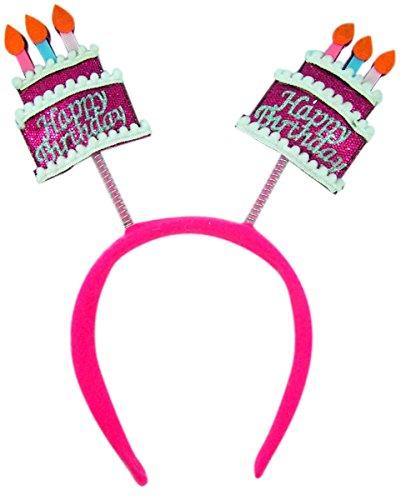 Forum Novelties Pink Happy Birthday Cakes Headband