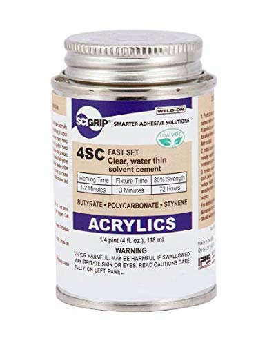SCIGRIP Weld-On #4SC Adhesive, Pint with Applicator Bottle and Needle