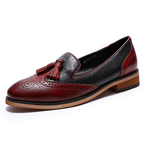 Slip Flats Shoes Original Women Black Handmade Women Lady On red Flying Loafers for Leather Shoes Mona qBHptp