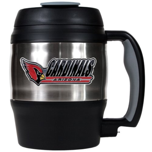 NFL Arizona Cardinals 52-Ounce Stainless Steel Macho Travel Mug with Bottle Opener