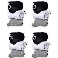 SUPER DEAL BAZZAR STORE Men's Ankle Length Cotton Socks (Multicolour, Free Size) - Pack of 12