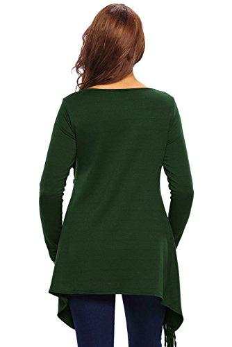 Neuf femmes Vert asymétrique à franges Cardigan Pull Veste Poncho décontractés Taille S UK 8–10EU 36–38