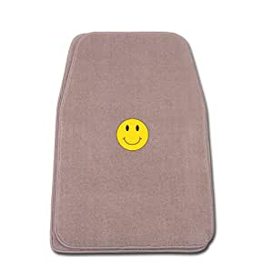 Premier Beige Universal Fit Front Two Piece Floormat with SMILEY FACE Logo