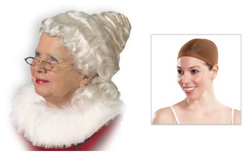 Mrs. Claus Wig and cap