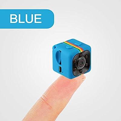 bqmqolove Cámara pequeña del Deporte de la Seguridad de la visión Nocturna de la Mini cámara pequeña para el hogar, Oficina, Coche, al Aire Libre (Blue)