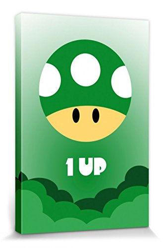 Amazon.com: 1art1 Gaming Stretched Canvas Print - One Up ...