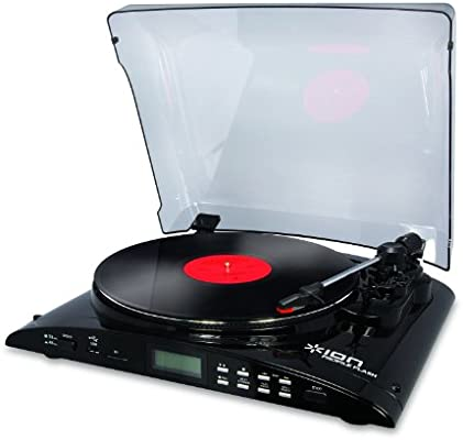 Ion Profile Flash - Tocadiscos para equipo de audio, negro: Amazon ...