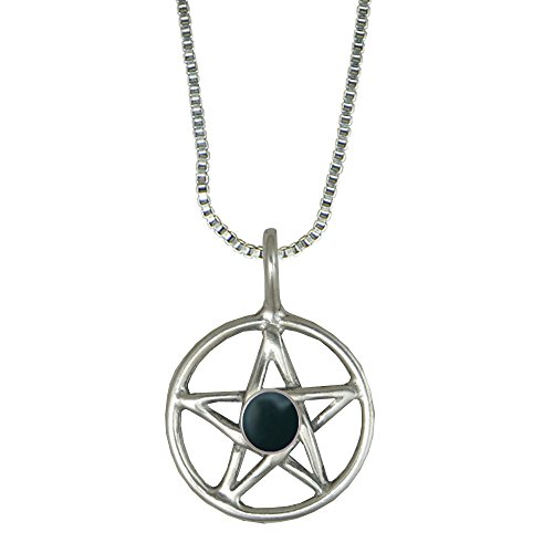 Pentacle for the Goddess in Sterling Silver with Bloodstone Made in America Other Gemstones Available