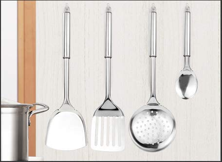 Kitchen Stainless Steel 8-Piece Cooking Spoon Set, Stainless Steel Cooking Utensils - Kitchen Utensils Set of 8 by Unknown (Image #1)