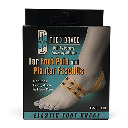 The ORIGINAL X Brace for Foot Pain - All Day Treatment for Plantar Fasciitis, Severs Disease & Heel Pain with Gentle Arch Support.