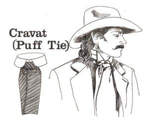 Victorian Gambler Costumes - Cravat (Puff Tie)