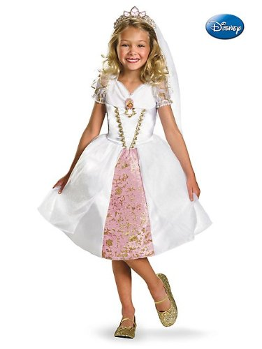 Tangled Rapunzel Wedding Gown Costume Size: 4-6X]()