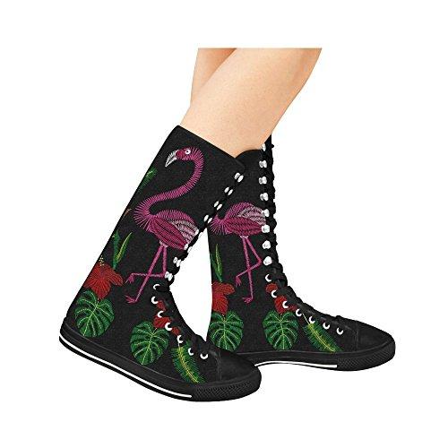 D-story Fashion Allacciate Scarpe Da Ginnastica Alte In Tela Punk Ballate Lunghe Per Donna Multicolore16