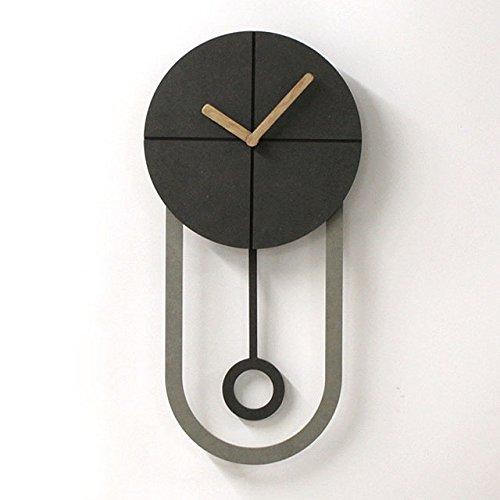Simple Wall Hanging Clock - Home Deco - Living Room - Noiseless - Hand Made - Korea
