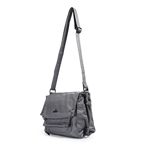 Handbag Handle Top Purse Women's Shoulder Angelkiss Crocodile Grey Large Bag Satchel wCTFcaqt