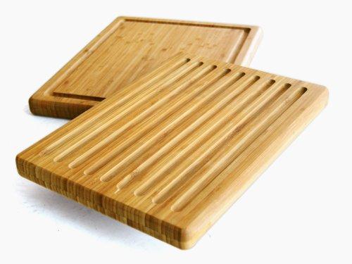 Zeller 25247 Kombi-Schneidebrett, Bamboo / 38.5 x 30 x 3