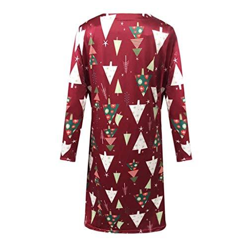 Ladies Christmas Casual Mini Dress Long Sleeve Xmas Printing Skirts Womens O-Neck Milk Silk Dresses at Amazon Womens Clothing store: