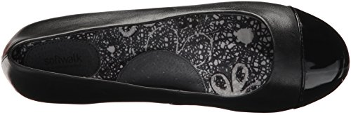 Napa Black SoftWalk Black Ballet Flat Womens A0Sq7S