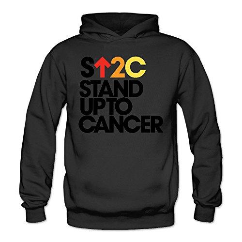 Caili Women's Stand Up To Cancer SU2C Hoodies Sweatshirts M Black