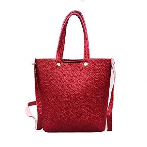Crossbody Pure Shoulder Bags Shoulder Corssbody Saddle Deals With amp;Handbag Red Clearance Bag TOOPOOT Bags color Women q0wgcSt