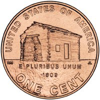 PRESALE 2009 Lincoln Cent Penny Coin Log Cabin Full Roll - 50 Uncirculated Coins - (2009 Lincoln Cent Roll)