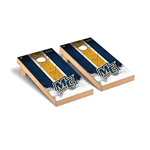 Victory Tailgate Regulation Collegiate NCAA Vintage Series Cornhole Board Set - 2 Boards, 8 Bags - Merrimack College MC Warriors ()