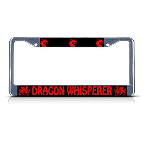 Dragon Whisperer Metal License Plate Frame Tag Border Two Holes Perfect for Men Women Car garadge Decor