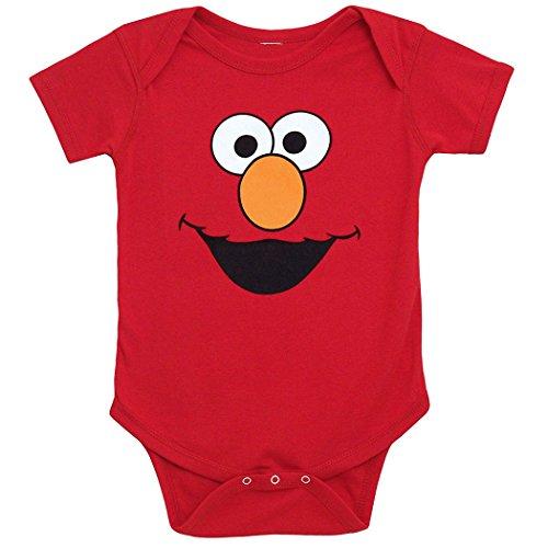 Sesame Street Elmo Face Infant Onesie Romper-12 months