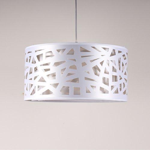 Lightinthebox Modern Pendant Lights Drum Hanging Lighting Contemporary for Dining Room Kitchen Living Room Metal White